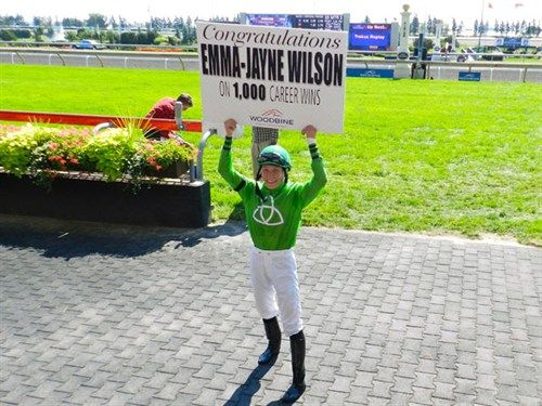 Emma-Jayne Wilson notched her 1,000th win at Woodbine.