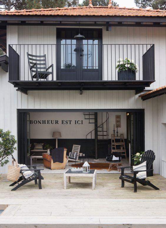 Cap ferret maison en bois typique d coratrice d 39 int rieur ludivine de - Maison bois cap ferret ...