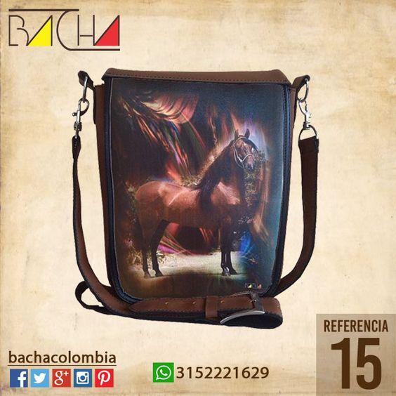 #Bolso Equino 15 #CUERO Con acolchado interno Grande 26x23x7cm Mediano 22x19x7cm