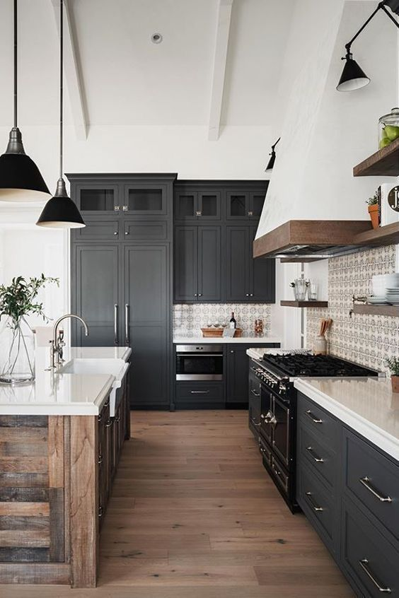 Pin On Kitchen In 2020 Cottage Style Kitchen Farmhouse Kitchen Design Rustic Modern Kitchen