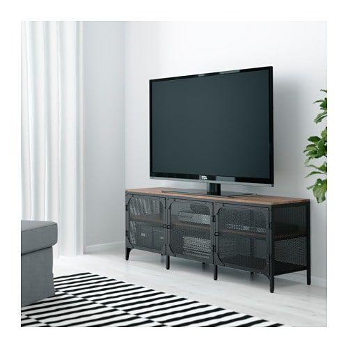 Fjallbo Shelf Unit Black Shop Here Ikea Tv Bench Ikea Tv Stand Ikea Tv