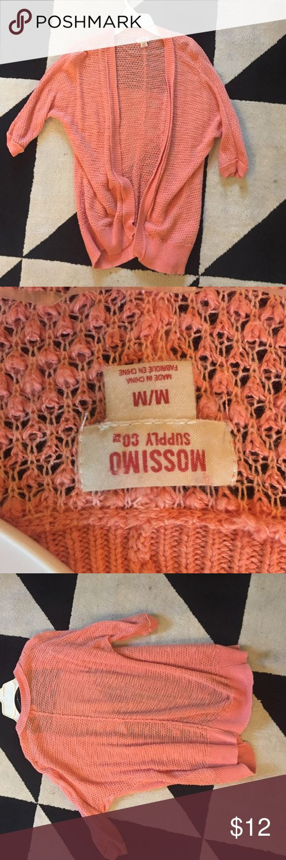 Orange cardigan 3/4 sleeves. Gently loved Mossimo Supply Co. Sweaters Cardigans