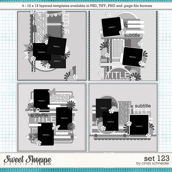 Cindy's Layered Templates - Set 123 by Cindy Schneider