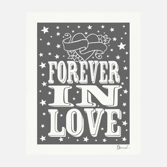 eu.Fab.com | Forever In Love Print Grey