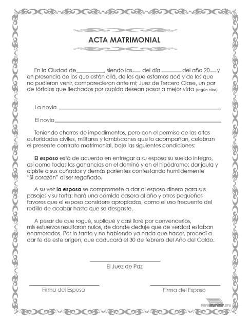 Pin De Ale Ja En Luz De Vida Acta De Matrimonio Certificado De Matrimonio Matrimonio