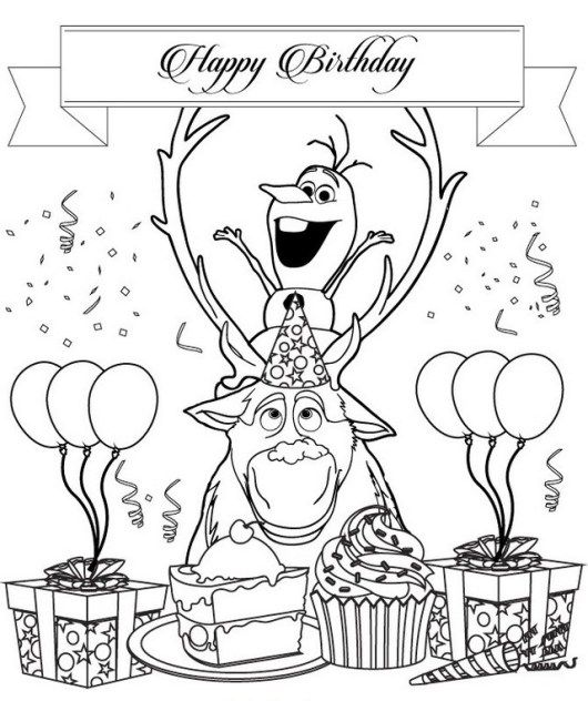 Olaf Birthday Coloring Sheet Birthday Coloring Pages Happy Birthday Coloring Pages Frozen Coloring Pages