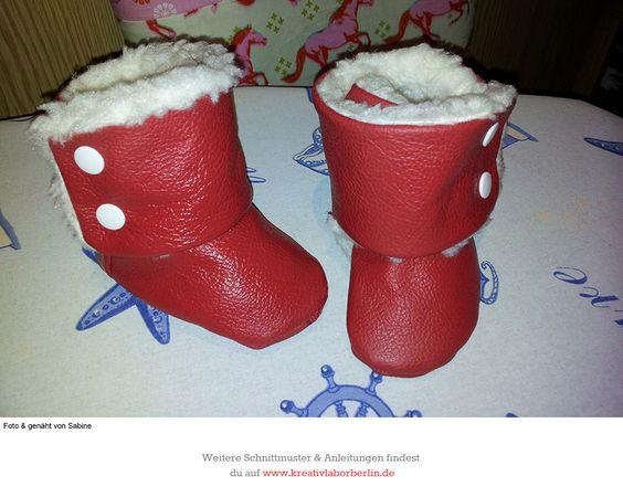Der Winter kann kommen! Zum Schnittmuster: http://www.kreativlaborberlin.de/mein-buch-babyschuehchen-naehen/