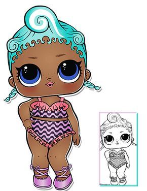 Precious Series 3 Wave 2 L O L Surprise Doll Coloring Page Lol Dolls Lol Paper Dolls