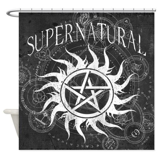 Supernatural Black Shower Curtain By Maxkroven Cafepress In 2020