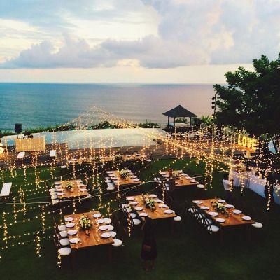 What a bomb wedding reception setup