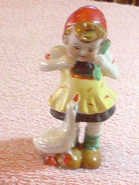 Occupied Japan Goose Girl Figurine Baby S Room