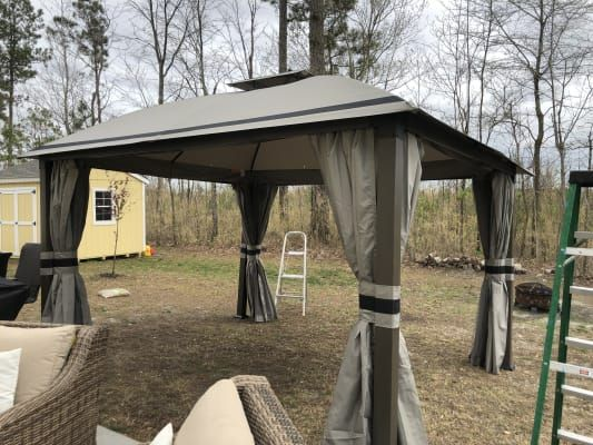 Broyhill Eagle Brooke Soft Top Gazebo 10 X 12 Big Lots In 2020 Gazebo Big Lots Broyhill
