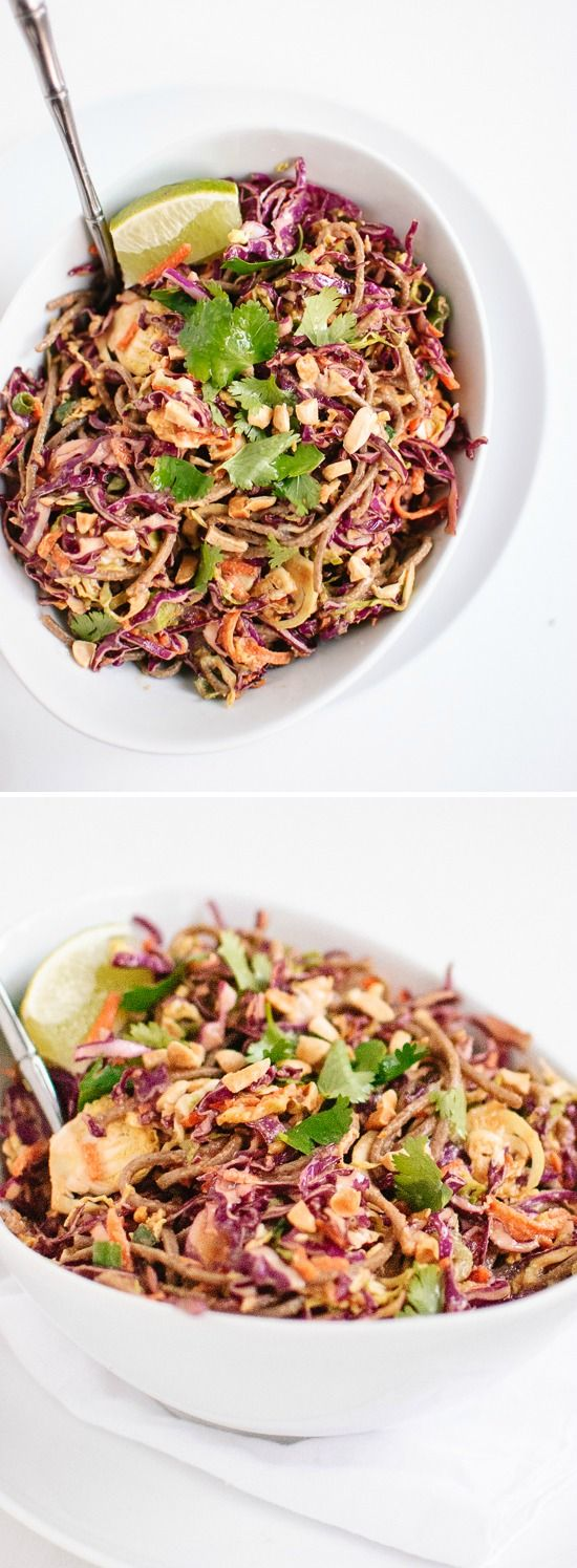 Soba noodles, Asian slaw and Cabbages on Pinterest
