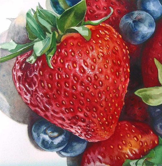 strawberry...watercolor: