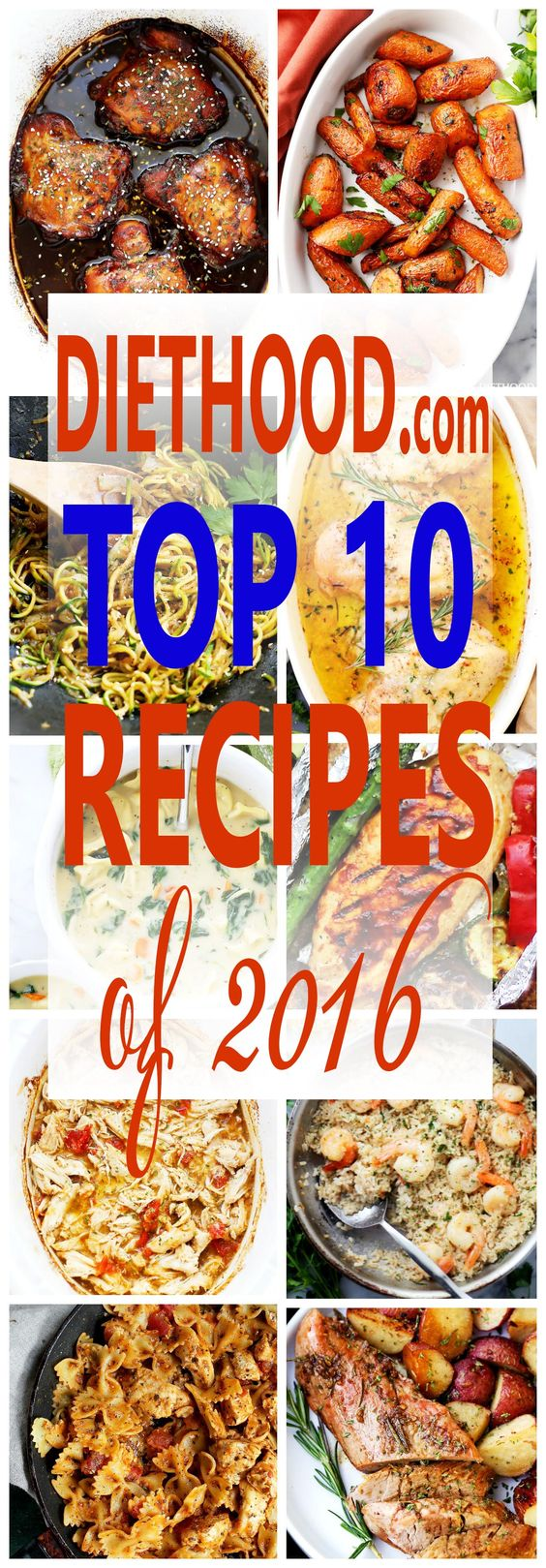 Diethood: TOP 10 RECIPES OF 2016!