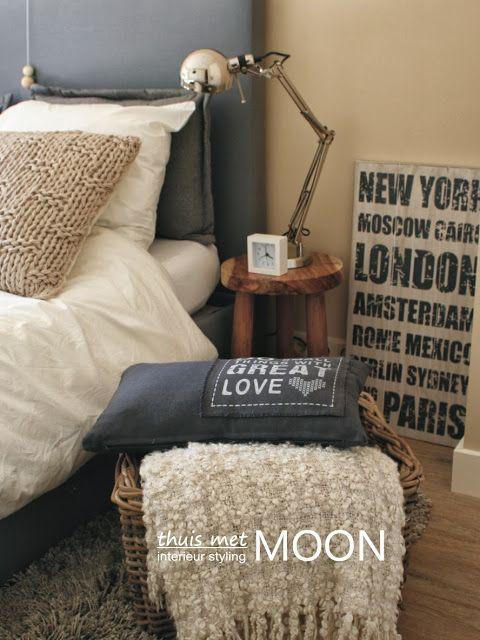 blog thuis met Moon - stoere slaapkamer - interieur styling door thuis ...