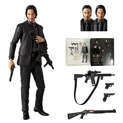 JOHN WICK Action Figure Model Kids Toys Collection Classic Movie Accessories New