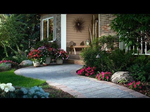 Simple But Effective Landscape Ideas Youtube Front Yard Landscaping Design Front Yard Garden Design Small Yard Landscaping