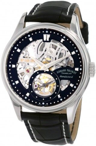 Armand Nicolet 9620S-NR-P713NR2 LS8 Limited Edition Mechanical Skeleton Watch For Men