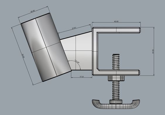 Measurements for a MIG torch holder