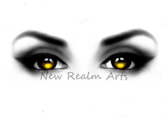 Yellow eyes digital art, New Realms Art is my brand spankin new shop on etsy with dirt cheap art/clip-art downloads. Check it out! (: