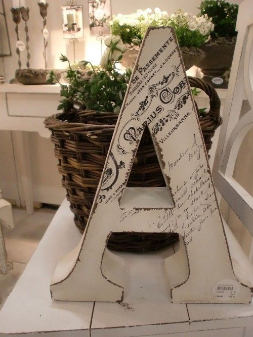 mod podge a copy of marriage certificate onto letter.  I'm GOING to do this....