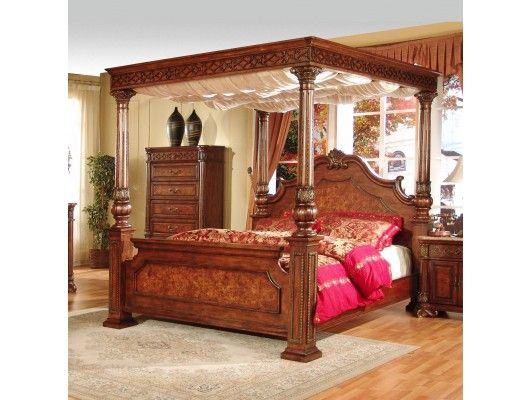 Gorgeous Cherry Solid Wood Canopy Bed -- The Olivia by Elements .