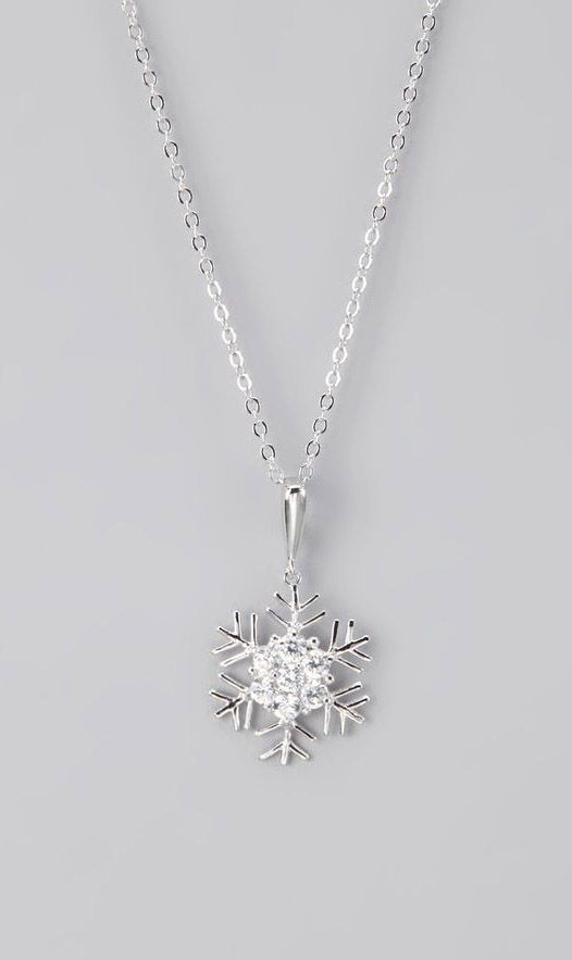Silver Snowflake Pendant Necklace