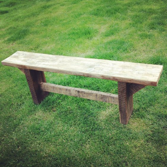 Rustic Solid Wood Scaffolding Board Bench Solid Wood