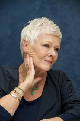 Judi Dench. I want to look like her when I'm older. Love her and her new haircut!