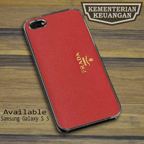 Prada Red Wallet iPhone 4 4s 5 5s 5c case Samsung Galaxy S2 S3 S4 S5