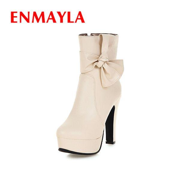 Encontre mais Botas Informações sobre ENMAYLA Novo Inverno Sapatos De Salto Alto…