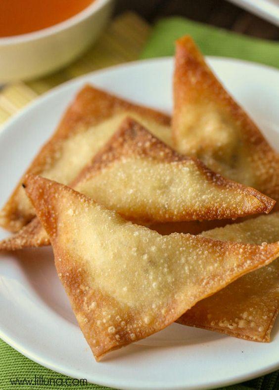 Cream cheese wontons, Cheese wontons and Wontons on Pinterest