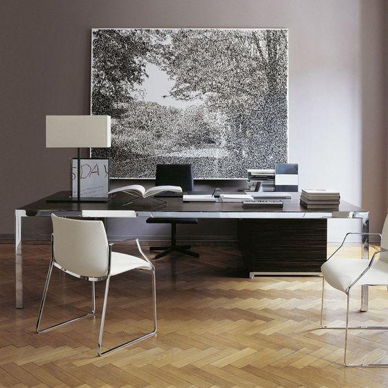 Chef-Schreibtisch / modern / Glas / aus Stahl PROGETTO1 by Monica ...