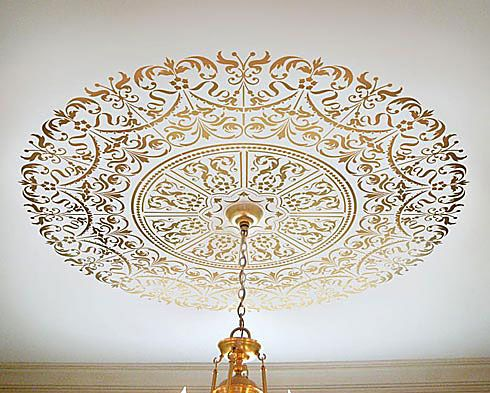 stencil ceiling medallion