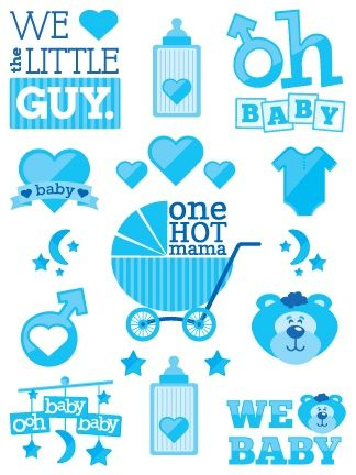 Baby shower temporary tattoos! For baby boy or baby girl