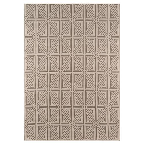 Armani Modern Beige Brown Geometric Outdoor Rug 7 10x10 10 Outdoor Rugs Indoor Outdoor Rugs Indoor Outdoor Area Rugs