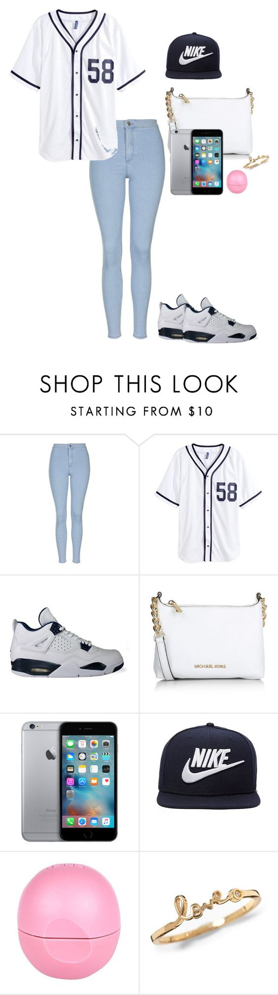 """""""heading to work"""" by laylay128 on Polyvore featuring Topshop, H&M, NIKE, Michael Kors, River Island, women's clothing, women, female, woman and misses"""