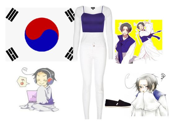 """""""South Korea"""" by jynkx ❤ liked on Polyvore featuring Topshop, WearAll, TOMS, women's clothing, women, female, woman, misses and juniors"""