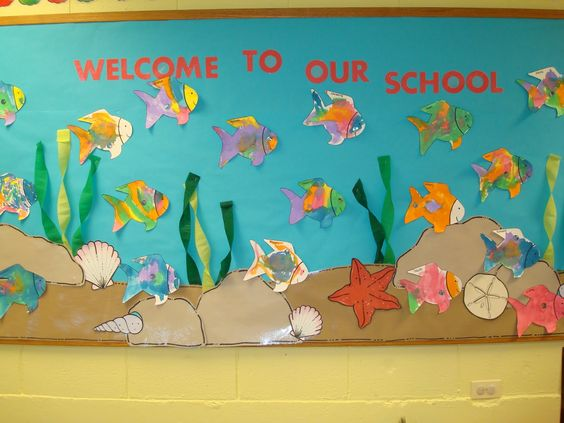 "free welcome back to school bulletin boards | Trinity Preschool MP: Welcome to our ""school"" Fish Bulletin Board"