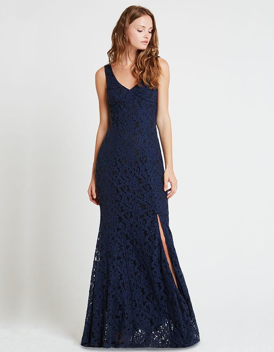 Elizabeth Long Lace Dress