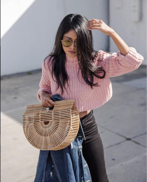 THIS CULT GAIA BAMBOO HANDBAG IS A REPRODUCTION OF A CLASSIC JAPANESE PICNIC BAG. IT IS EVERYTHING. IT IS A CLASSIC SHOW STOPPING PIECE.WEAR IT WITH EVERYTHING.: