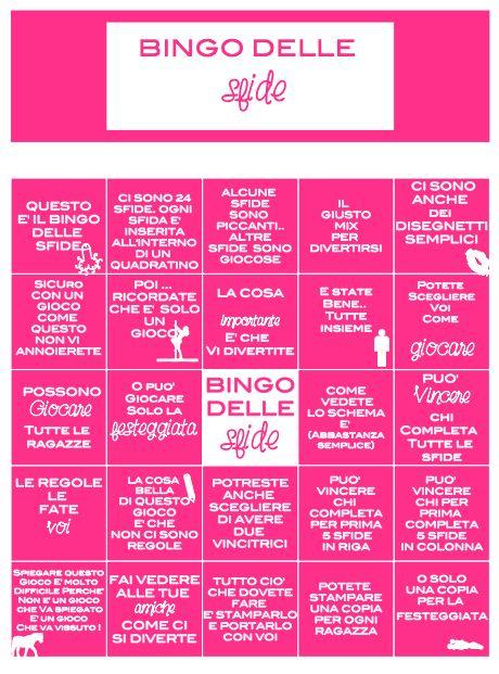 gioco compleanno ! addio al nubilato ! festa fra ragazze ! https://www.etsy.com/it/listing/258389272/bingo-delle-sfide-in-fucsia?ref=shop_home_active_1 #addionubilato #addioalnubilato #giocoaddioalnubilato #compleanno #giococompleanno