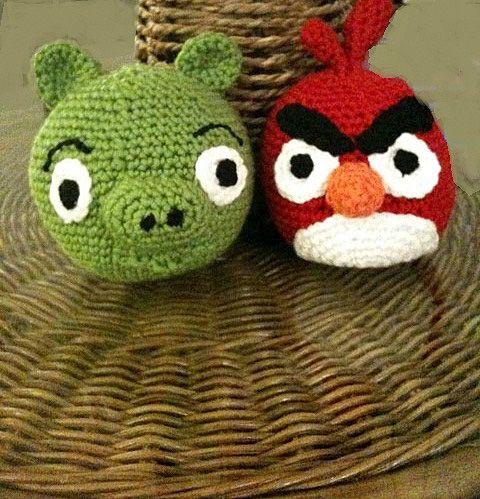 Angry Bird Free Crochet Pattern
