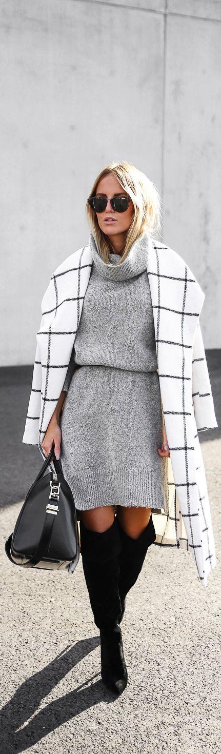 Grid print coat.: