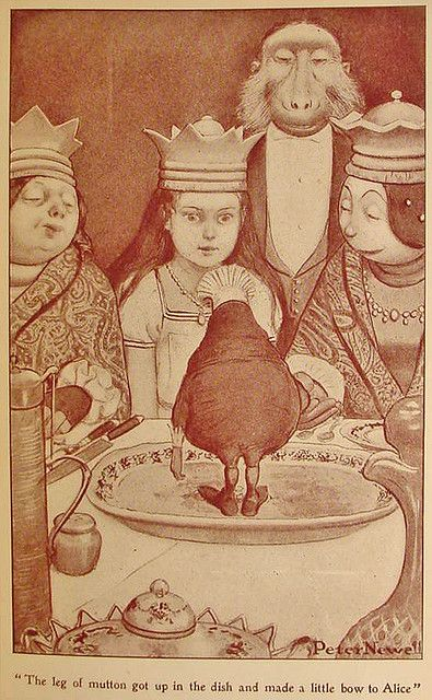 Alice through the looking glass illustrated by Peter Newell, 1902.: