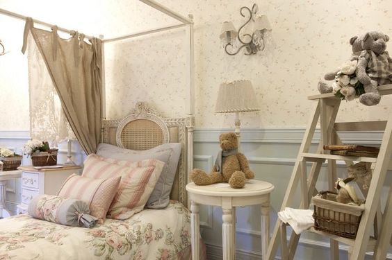 quarto da menina 43 m² estilo provençal francês
