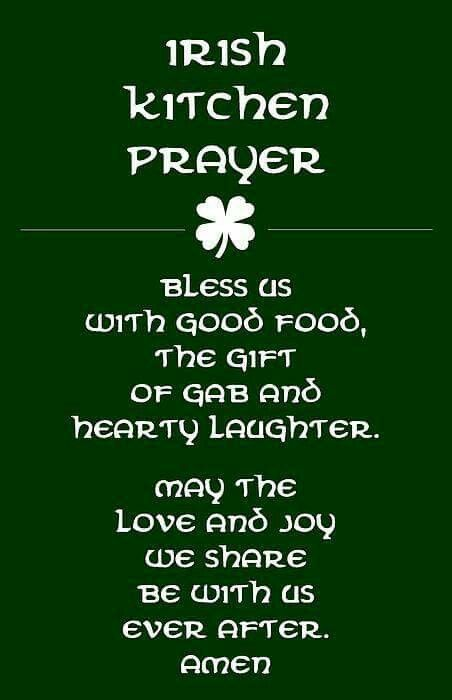 Irish kitchen prayer: