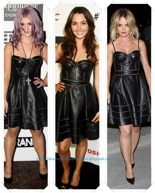 Vestido cuero negro combinar