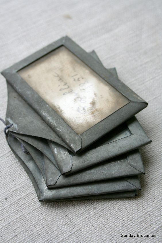 Five Antique Zinc Wine Cellar Tags. $195.00, via Etsy.